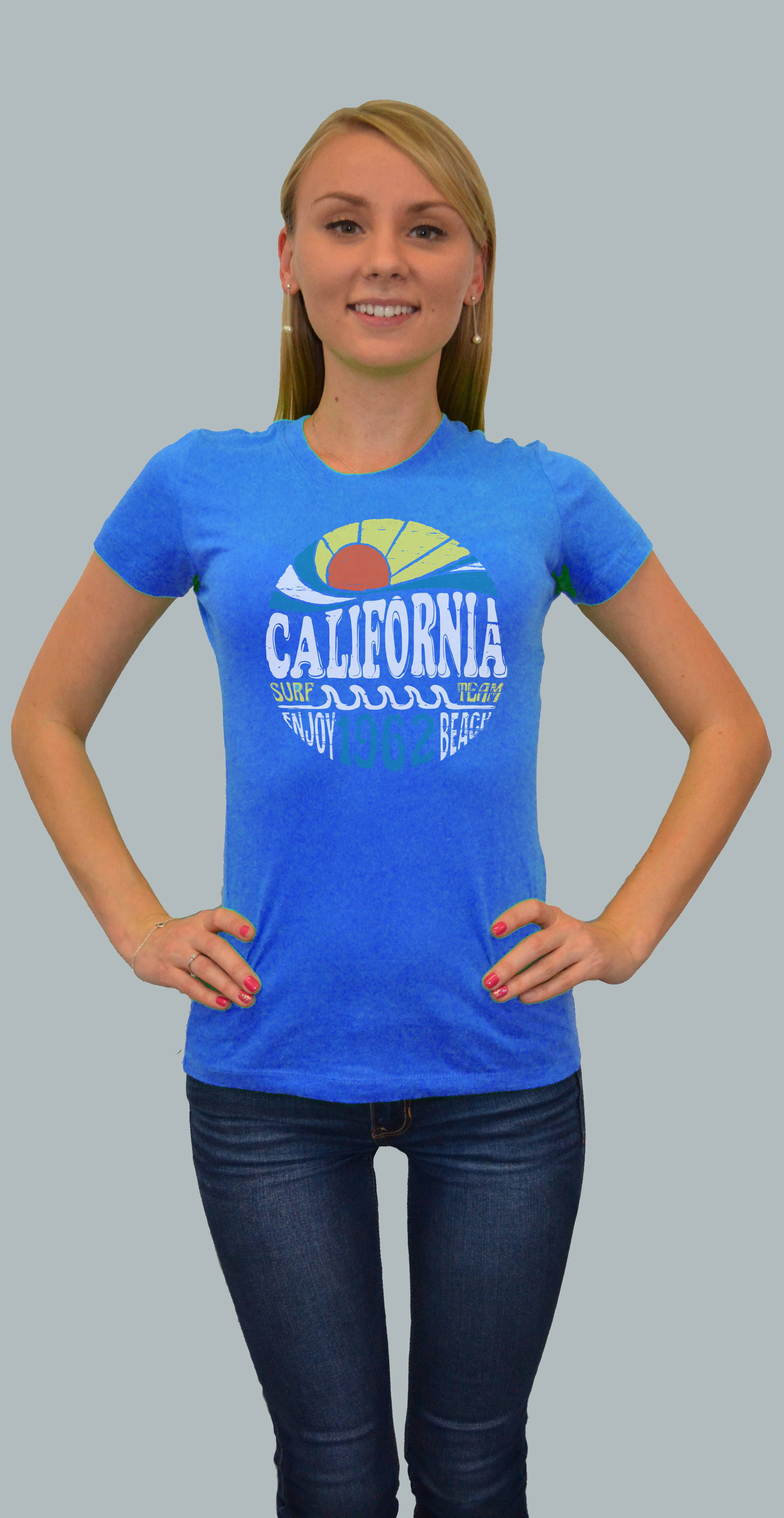 Cali retro groove baby doll san diego trading company for T shirt screen printing san diego